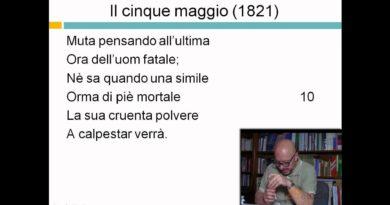 5 Maggio (1821) – prima parte – Alessandro Manzoni – Lezioni di letteratura dell'800 – 29elode