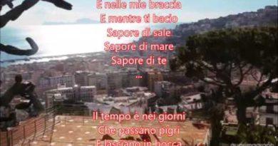 Sapore di sale cover lyrics Gino Paoli