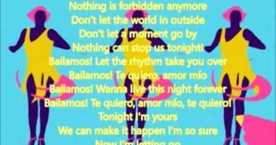 Bailamos cover lyrics Enrique Iglesias