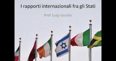 I rapporti internazionali tra gli stati