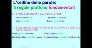 Impariamo a tradurre la frase latina