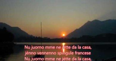 'E Spingule francese lyrics