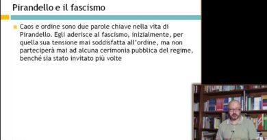 Il caos nella vita di Pirandello – Pirandello e il fascismo – Letteratura del '900 29elode