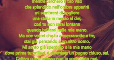 Una carezza in un pugno cover lyrics Celentano