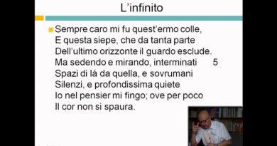 L'infinito – Giacomo Leopardi – Videolezioni di letteratura dell'800 – 29elode