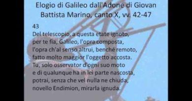 Elogio di Galileo dall'Adone di Giovan Battista Marino