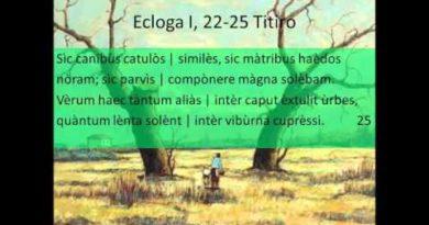 Seconda parte del commento e dell'analisi della Prima Ecloga dalle Bucoliche di Virgilio vv. 18-37