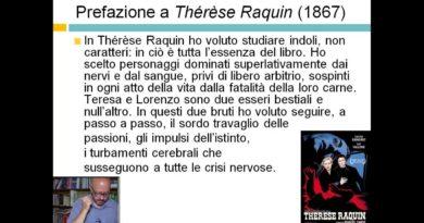 Letteratura Italiana dell'800 – Prefazione a Thérèse Raquin (1867)