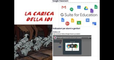 La carica della 101; google classroom and suite for education